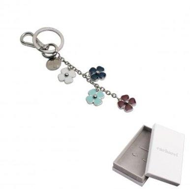 Privjesak za ključeve, cvijeće, srebrni