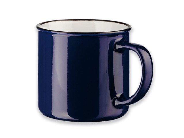 Šalica, keramička, plava, 320ml