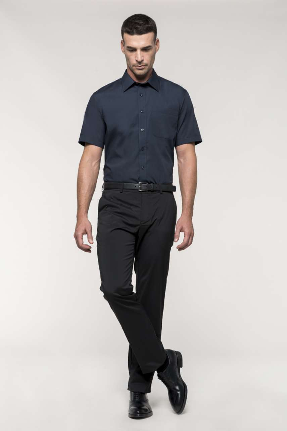 Košulja muška KR, 65% poliester + 35% pamuk, bijela, S