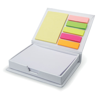Samoljepljivi blokići u kartonskoj kutijici, bijeli