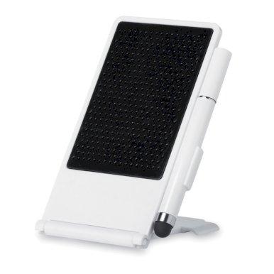 Držač mobitela, s touch olovkom, protuklizna površina, bijeli