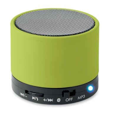 Zvučnik, okrugli, bluetooth, zeleni