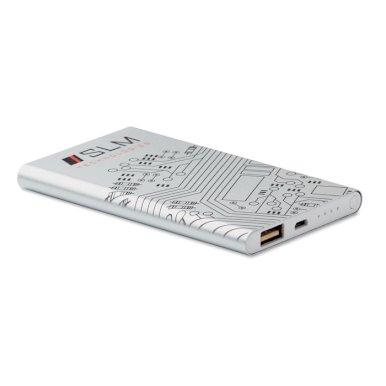 Powerbank za smartphone, 4000mAh, srebrni