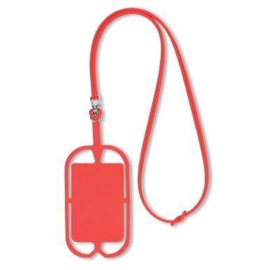 Držač za mobitel silikonski, crveni