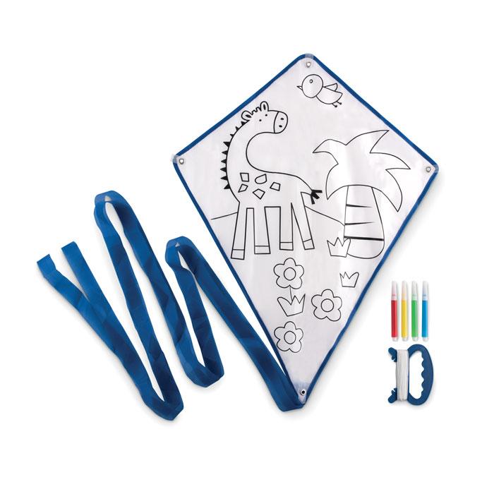 Zmaj koji se može bojati, sa 4 flomastera, plavi