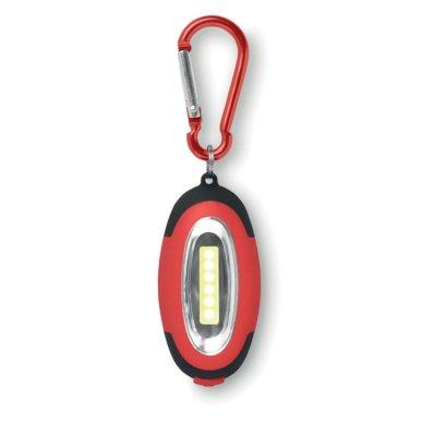 Svjetiljka, COB lampice, s karabinom, crvena