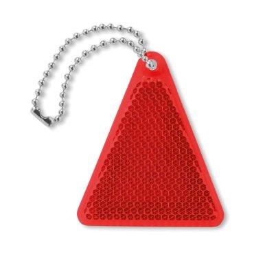 Privjesak za ključeve, reflektirajući, oblik trokuta, bijeli