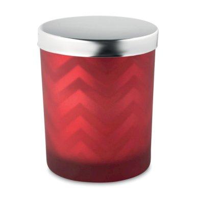 Mirisna svijeća u staklu, s poklopcem, crvena
