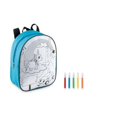 Dječji ruksak, s 5 markera, plavi