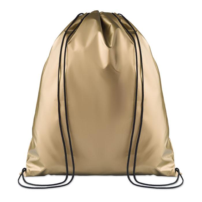 Ruksak za papuče sa špagicama, 190T polyester, zlatni