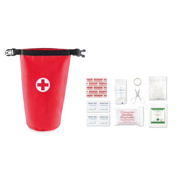 Set za prvu pomoć, u torbici, crveni