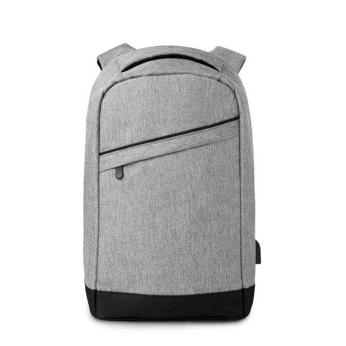 Ruksak za laptop s USB priključkom, sivo-crni