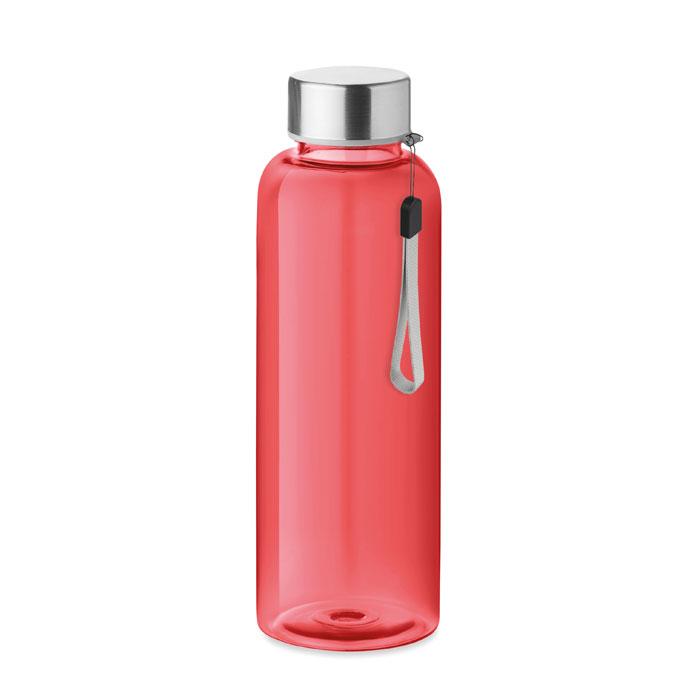 Boca za vodu, tritan, UTAH, bez curenja, 500 ml, prozirno crvena