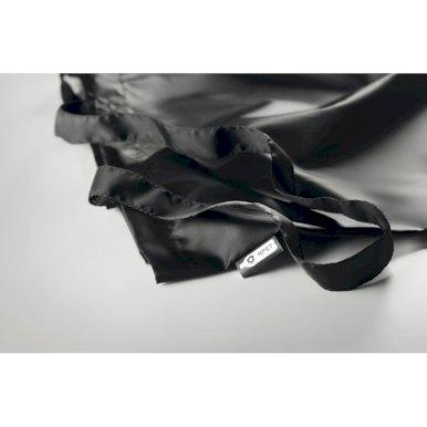 Torbica za kupovinu 190T RPET, duge ručke, crna