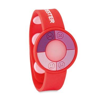 Narukvica s UV senzorom, crvena