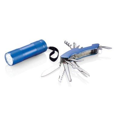 Set, nož i svjetiljka, plavi
