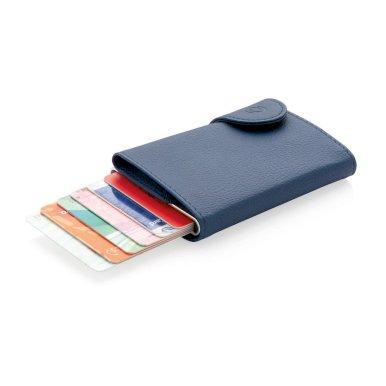 Etui za  kartice- novčanik, RFID zaštita podatka, PU-aluminij, plavi