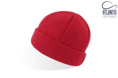 Kapa, okrugla, PUPPY, polarni flis, crvena