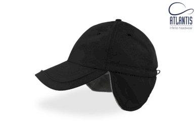 Kapa, Techno Flap, s naušnicima, crna