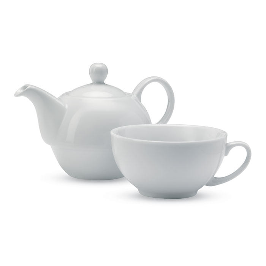 Čajnik, keramički 0,4l, bijeli