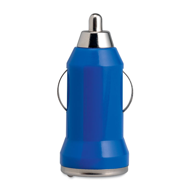Punjač za auto, USB, royal plavi