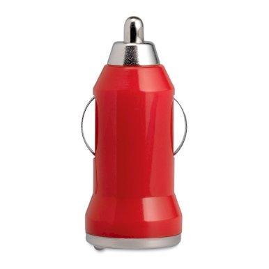 Punjač za auto, USB, crveni