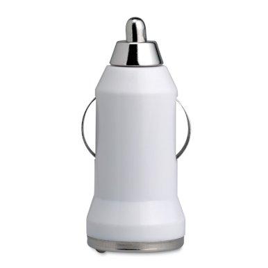 Punjač za auto, USB, bijeli