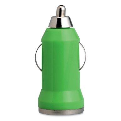 Punjač za auto, USB, zeleni