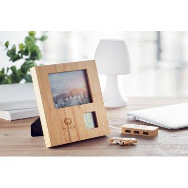 Sat, stolni, okvir za fotografije, od bambusa
