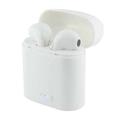 Slušalice, bluetooth, u kutijici, bijele , OŠTEĆENA KUTIJA