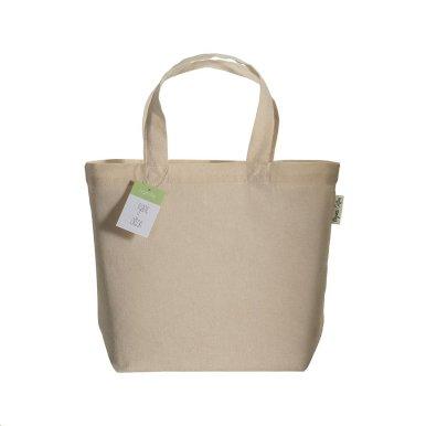 Torba za kupovinu, kratke ručke, organski pamuk, 120 gr, natur