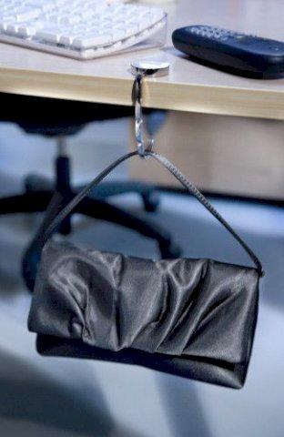 Vješalica za torbe, bijela