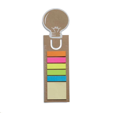 Bookmark sa samoljepljivim blokićima, smeđi