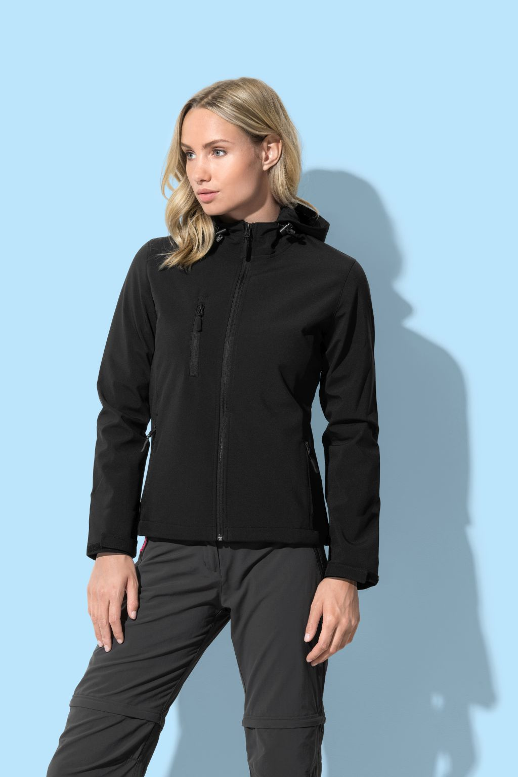 Jakna Active Softest Shell Hooded, ženska