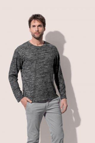 Majica pletena dugi rukav muška,210g,umjetna tkanina