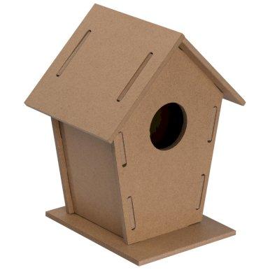 Kućica za ptice,od MDF, natural
