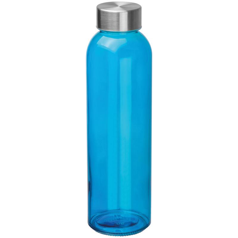 Boca za vodu, staklena, 500ml, plava