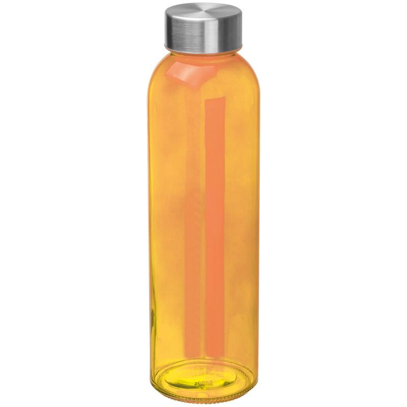 Boca za vodu, staklena, 500ml, narančasta