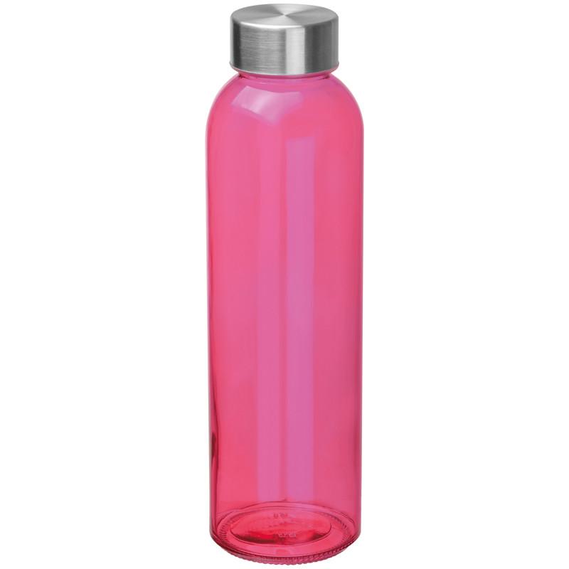 Boca za vodu, staklena, 500ml, roza