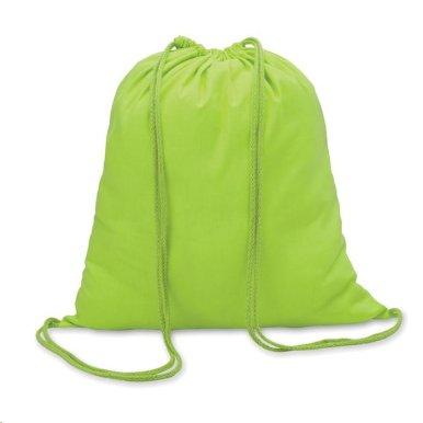 Ruksak za papuče sa špagicama, svijetlo zeleni