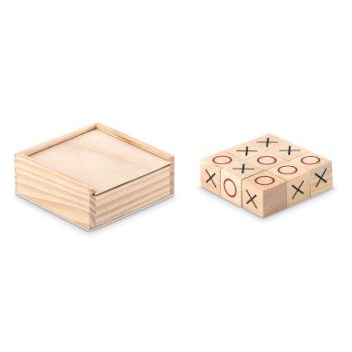 Igra, križić kružić , drvena, natur