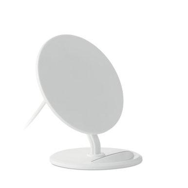 Bežični punjač i držač mobitela, bijeli