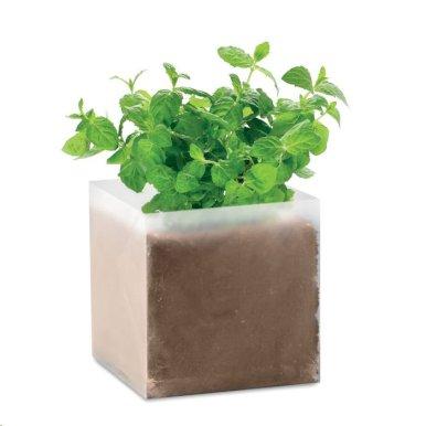 Vrećica s kompostom i sjemenkama  mente