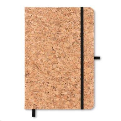 Blok od pluta, A5, s utorm za kem. olovku, crna elastična traka