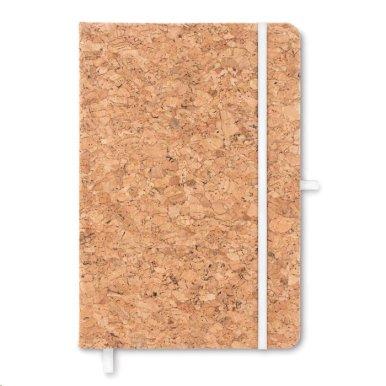 Blok od pluta, A5, s utorom za olovku ,  bijela elastična traka