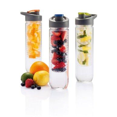 Boca za vodu, sa umetkom za voće, plastična, 800ml