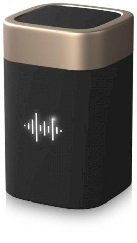 Zvučnik, Bluetooth, svijetlećim logim, 800mAh, zlatno/crni