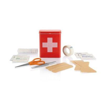 Set za prvu pomoć, u limenoj kutijici