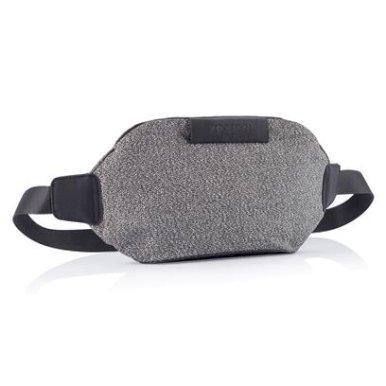 Pojasna torbica, siva-crna