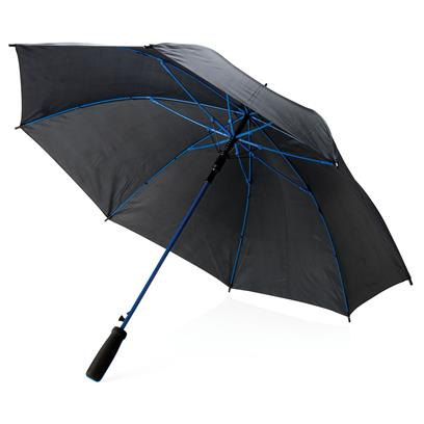 """Kišobran ,automatski, 23"""", veliki, mekana drška, crno/plavi"""